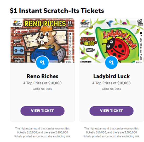 $1 instant scratch ticket