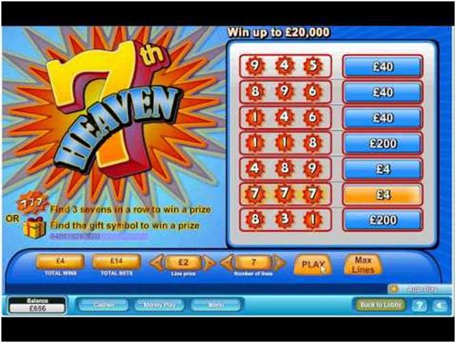 7th Heaven scratch cards