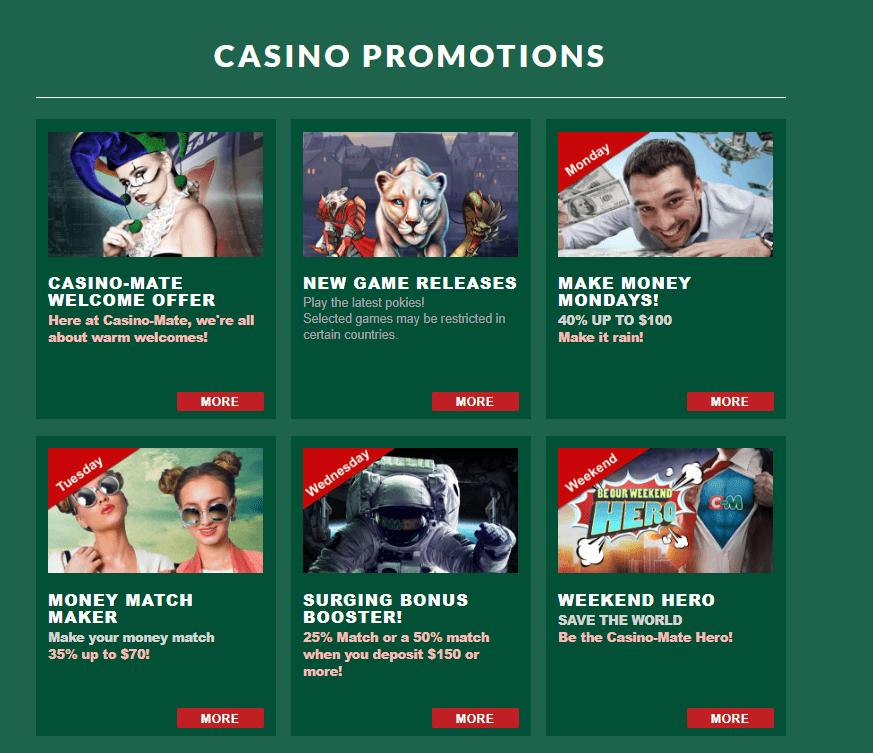 Casino Mate- Bonuses