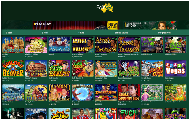 Fair Go Casino Games to play