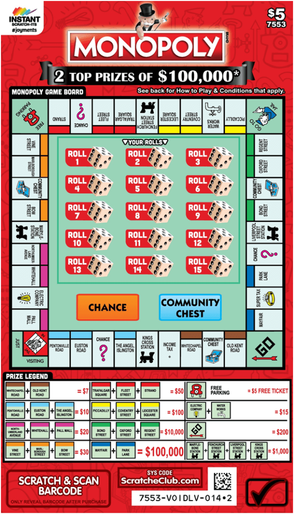 How to play the new $5 Monopoly Scratchie in AU