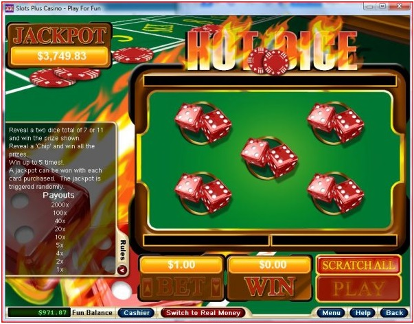 How to play Hot Dice Instant Scratchie with bitcoins