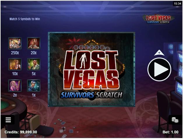 Lost Vegas Survivor Scratchie