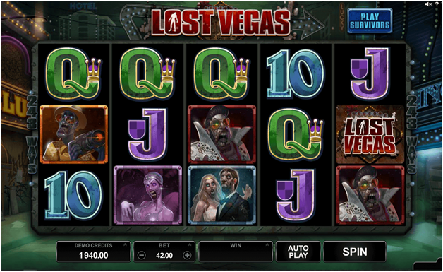 Lost Vegas game symbols