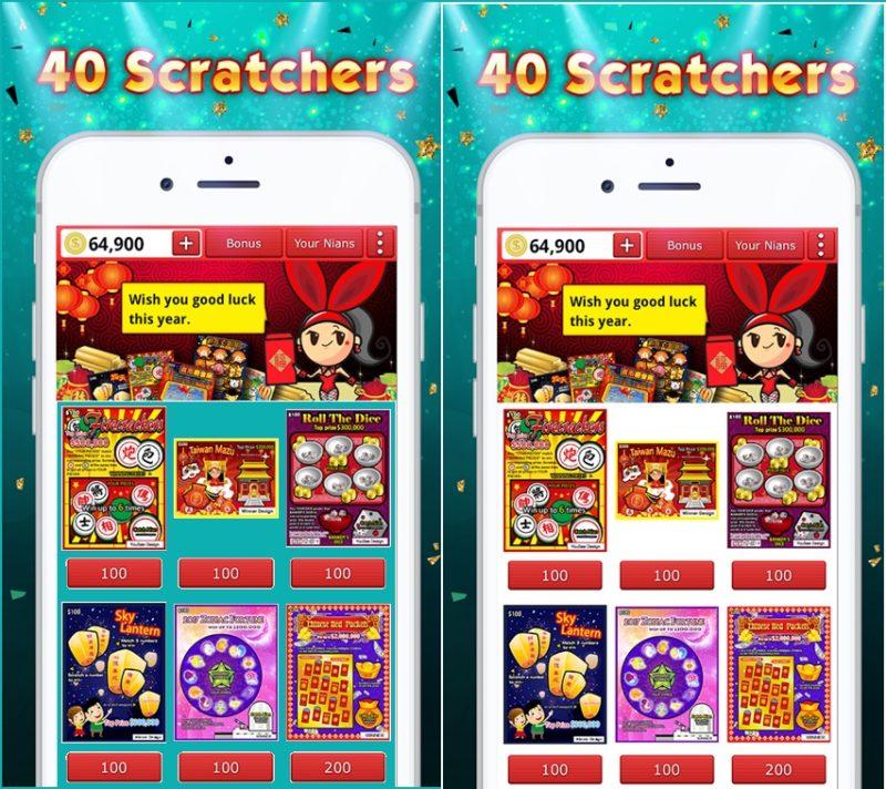 Lottery Scratch Off-Mahjong