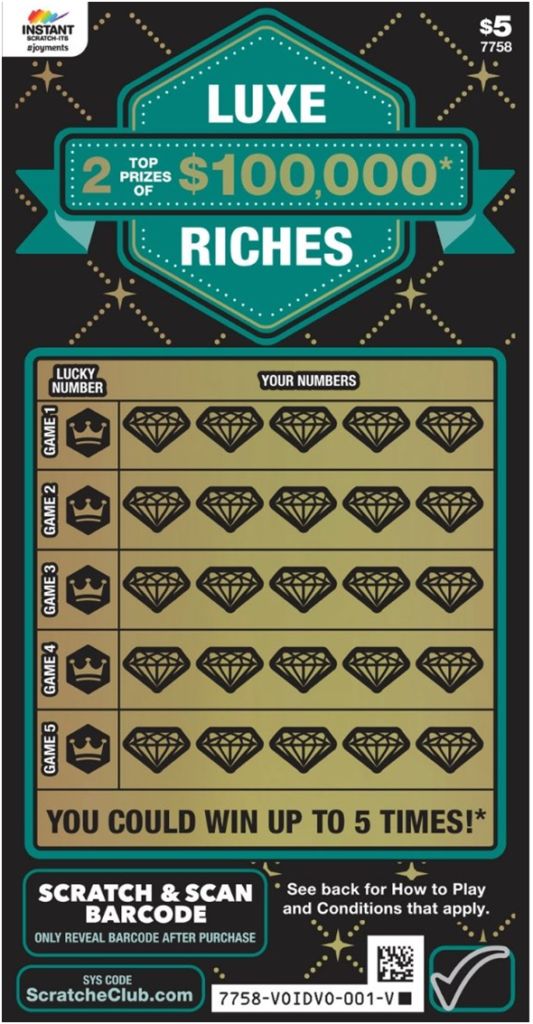 Luxe Riches Instant Scratchie