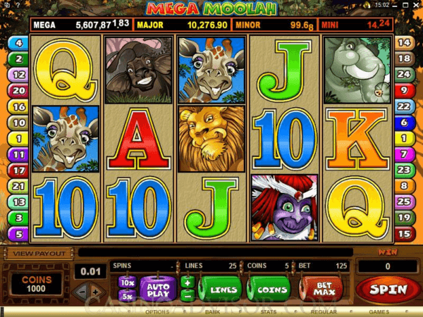 Mega Moolah pokies to play