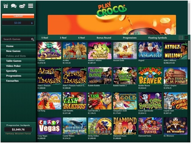 Pokies to play at Play Croco online casino