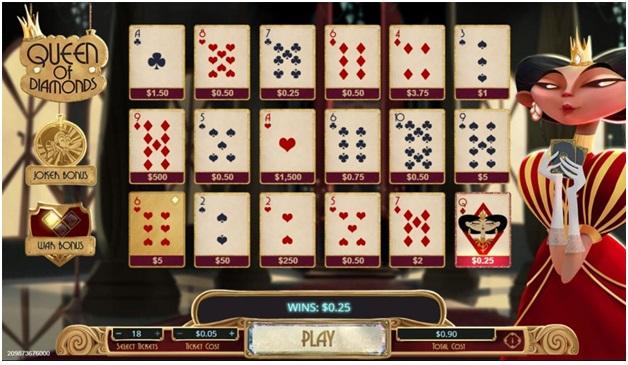 Queen of diamonds- Scratchie