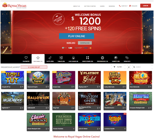Royal Vegas Casino- Play Instant Scratch Cards
