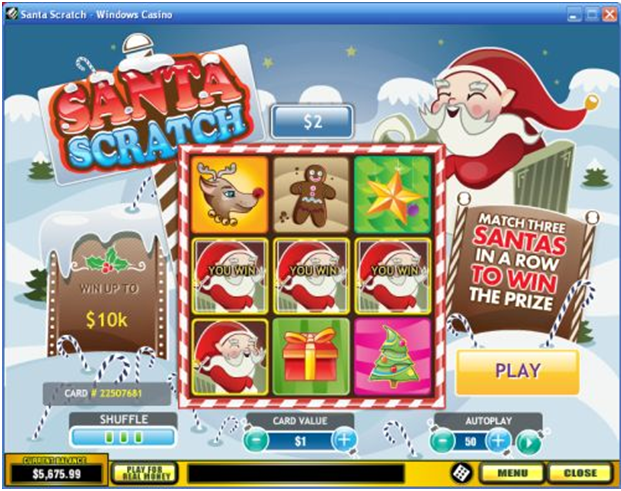Santa Scratchie to play online