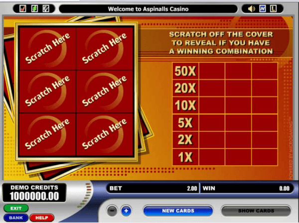 Scratch Card from Microgaming