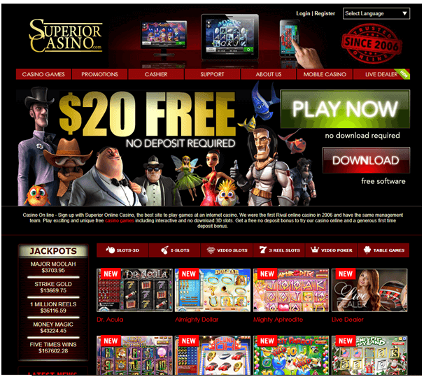 Superior casino instant scratchies