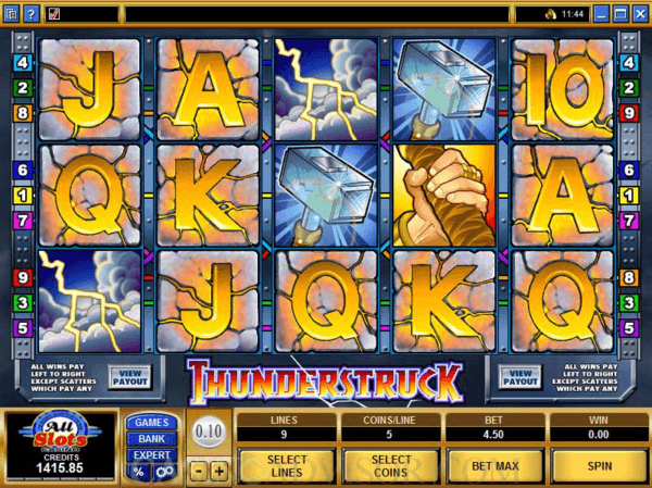 Thunderstruck from Microgaming