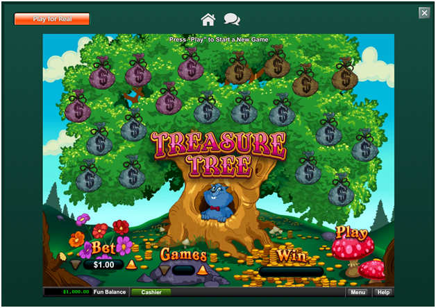 How to play Treasure Tree online Scratchie at Play Croco Casino?