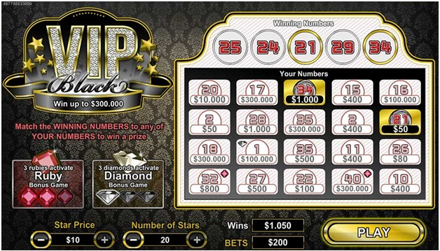 VIP Black scratchie