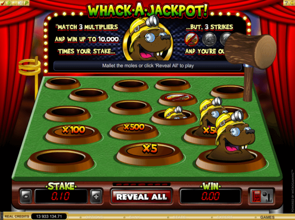 Whack A Jackpot game