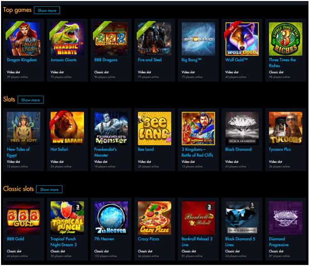 Winward Casino games to play