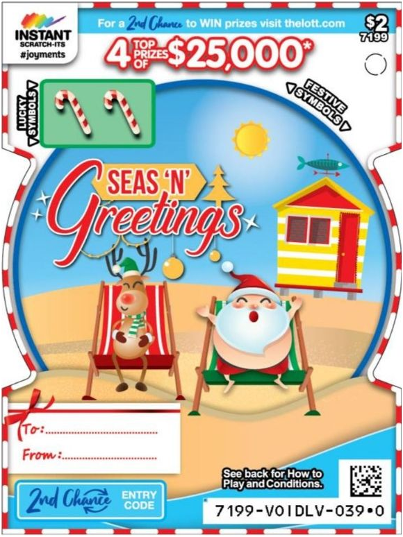 Seas n Greetings- $2 Scratchie